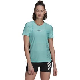 adidas TERREX Parley Agravic TR Pro T-Shirt Women, turkusowy/czarny